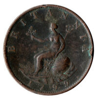 1799 LARGE HALF PENNY OF GEORGE III.  - NICE COLLECTIBLE COIN    #12