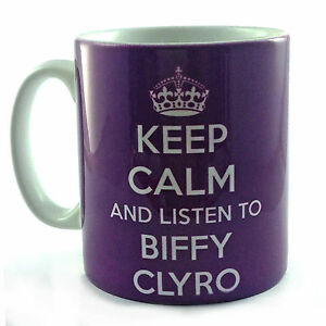 NEW KEEP CALM AND LISTEN TO BIFFY CLYRO GIFT MUG CUP MUSIC FAN