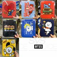 "BTS BT21 Official Authentic Goods 10"" Tablet Pouch BITE Ver + Tracking Number"