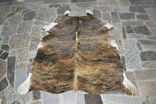 """NEW Cowhide Rug HAIR ON SKIN  Leather cowhide  974-  72"""" x 64"""""""