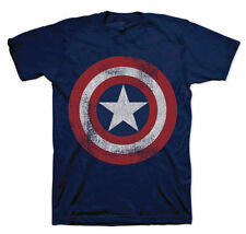 Captain America Cotton Short Sleeve T-Shirts for Men