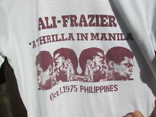 ALI-FRAZIER 1975 Thrilla In Manila Phillipines Vintage Boxing  T-Shirt