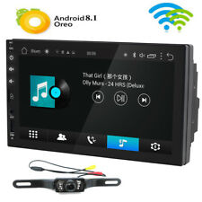 "Quad-Core Head Unit 2Din 7""Android 8.1 Car Stereo GPS Radio HD SD AUX USB+Camera"