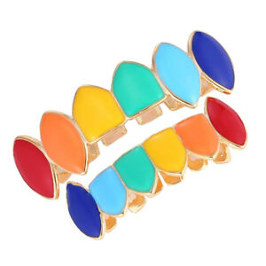 6 Colors Hip Hop Teeth Top & Bottom Tooth Grill Copper Hip-hop Braces Grill