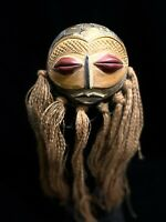 Personalized handmade African wooden mask GHANA (1187)