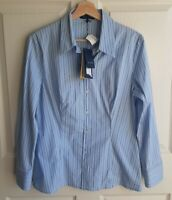 NWT Piazza Sempione Womens Button Front Blouse Top Shirt Size 48 US Large READ