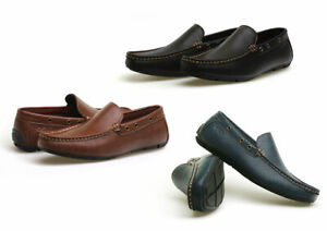 Men's Vegan Casual Lightweight Slip-On Loafers Moccasins Driving Shoes