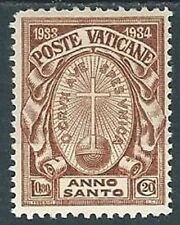 1933 VATICANO ANNO SANTO 80 CENT MH * - X8