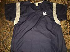 Adidas New York Yankees Short Sleeve Coaches Jacket Mens Large