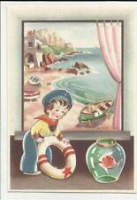 cartolina artistica illustrata marina marinaio