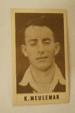1940's Vintage G.J.Coles Cricket Card - K. Meuleman - Victoria.