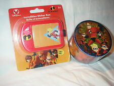 Disney Store The Incredibles Roll Of 21 Stickers And Sticker Box 2 Items New