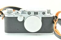 【 Exc +++++ 】 LEICA III F 3F Black Dial Rangefinder Camera from JAPAN 1029