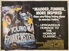 Young Frankenstein Original 1974 Movie Quad Poster Mel Brooks Gene Wilder