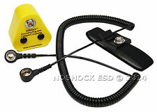 ESD, Anti-Static, Grounding Kit with Wrist Strap 12ft Cable & EU Grounding Plug