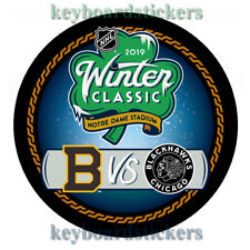 2019 NHL Winter Classic Dueling Hockey Puck BOSTON BRUINS VS CHICAGO BLACKHAWKS