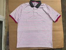 Nike Golf Polo Shirt STANDARD FIT DRI FIT UPF 40+ Striped Stretch Men's XL $75