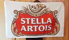 Stella Artois Beer Flag 3' X 5' Deluxe Indoor Outdoor Banner man cave bar light