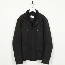 Vintage BELSTAFF Small Logo Padded Coat Jacket Brown XL