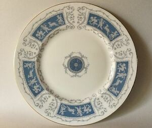 "Coalport REVELRY BLUE Cherubs Putti Dinner Plate 10 3/4"" Bone China England"