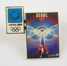 Athens Olympic Games 2004 Pin Badge - Official Poster Pin - Seoul 1988 -