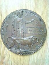 More details for ww1 bronze memorial plaque arthur burley
