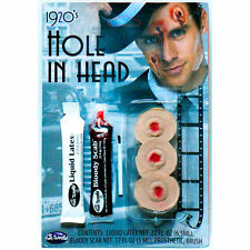 Hole in the Head Bullet Hole Victim Makeup FX Kit Halloween Costume Accessory