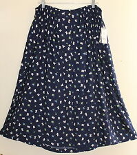 NWT Susan Bristol - Sz 3X 3W Fun Floral Poppy Comfortable Long Rayon Skirt