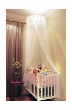 Loisleila Princess Lace and Net Round Bed Canopy by 120-Inch with Light (White)