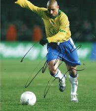 BRAZIL ROBERTO CARLOS Signed LARGE 16x12 INCH Photo AFTAL OnlineCOA