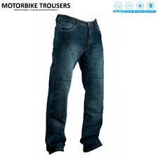 Mens Motorcycle Motorbike Biker Jeans Trouser Pants Aramid Protective Lining