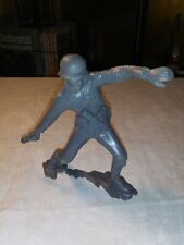 "1964 MARX 6"" Inch German Soldier ACTION FIGURE Throwing Grenade"