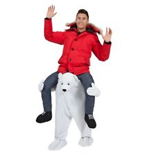 Polar Bear Carry Me Mascot Ride On Novelty Adults Fancy Dress Costume One Size