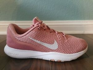 Nike Womens Flex Trainer 7 Rust Pink/White Laufschuhe