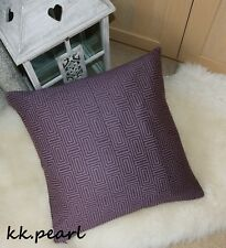 "John Lewis ""KALAMBO"" Cushion Cover & Modern Look Geometric Fabric /Purple 20"""