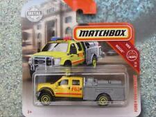 Matchbox 2019 #047/100 FORD F-550 SUPERDUTY fire truck yellow CaseA