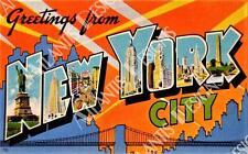 Greetings From New York City Vintage Postcard Fridge Magnet 2 x 3