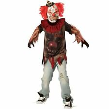 Childrens Boys Sideshow Clown Halloween Costume Fancy Dress Outfit 10-12 Years