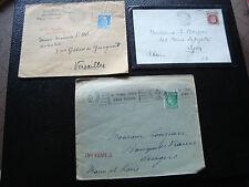 FRANCE - 3 enveloppes 1944 1945 1947 (cy22) french