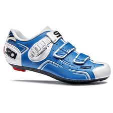 SIDI Level Road Cycling Shoes Bike Shoes Blue/White Size 36-46 EUR