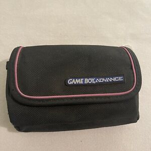 Official Nintendo GameBoy Advance Carrying Case Travel Bag Black and Pink