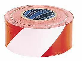 Draper 66041 TP-BAR 75mm x 500M Red and White Barrier Tape Roll