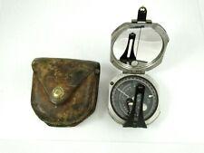 Vintage D.W. Brunton's Pocket Transit Compass Ainsworth & Sons with Case
