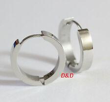 20mm Extra Large Silver 316L stainless Steel Mens Women unisex Hoop Earrings