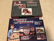1985 Transformers Warren Activity Center G1 Gen1 Autobots Decepticon Complete