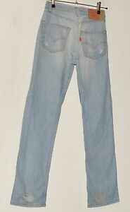 "MEN'S JEANS BLUE LEVI STRAUSS & CO 501 W 30"" L34"" MADE IN U.S.A."