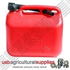 SERBATOIO del carburante può 20l venti litri di acqua in plastica rosso Benzina Diesel contenitore