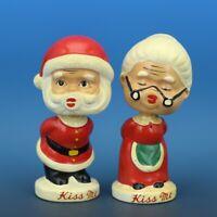 Vintage Dee Bee Co Japan Santa & Mrs Clause Magnetic Kissing Bobblehead Knodders