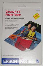 "200 Epson Glossy Photo Paper 4X6"" Sheets - Heavyweight Glossy 52LB 9.2mil"