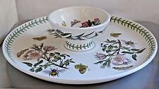 PORTMEIRION BOTANIC GARDEN Large Party Hors D'oeuvre Dish & Plate Vintage Mark